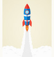 rocket launch into space startup concept vector image