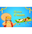 King Mahabali in Onam background vector image vector image