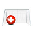 A ball with the flag of Switzerland vector image vector image