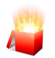 Glowing box vector image