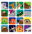 Wildlife animals set icon Vector Image