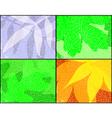 leaf seasons vector image vector image