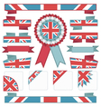 uk stitched ribbons vector image vector image