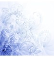 Flowers blue background vector image vector image