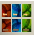 Abstract bright colors green and blue brown vector image