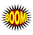 comics cloud with boom word vector image