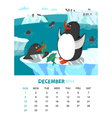 December vector image
