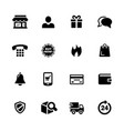 e-shop icons vector image
