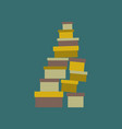 icon in flat design mountain of boxes vector image