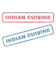 indian cuisine textile stamps vector image