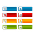 Notification icons and buttons vector image
