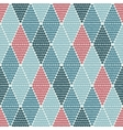 seamless pattern with rhombuses tribal vector image