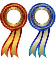 Set of gold and silver medals vector image