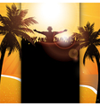 Summer festival panel background vector image
