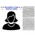 woman icon with bonus vector image