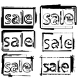 sale text vector image