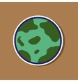 paper sticker on stylish background halloween full vector image