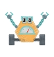 drawing robot multi-task technology pincers arms vector image