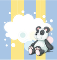 A stationery with a panda vector image vector image