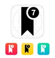 Bookmark with number icon vector image
