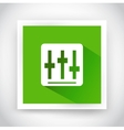 Icon of setting for web and mobile applications vector image