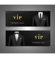 Businessman suit vip cards horizontal banners vector image