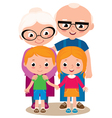Grandparents and their grandchildren vector image vector image