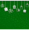 Background with gift boxes vector image vector image