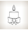 Christmas Festive Candle on a Light Background vector image