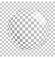 Transparent Magnifying Glass on Gray Background vector image vector image