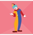 funny circus clown smile at party wearing vector image