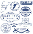 Cape May county New Jersey stamps and seals vector image