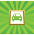 Car picture icon vector image