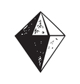 Diamond shape icon isolated abstract background vector image