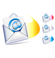 email sent and arriving SMS vector image