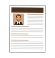 man brown curriculum vitae icon vector image