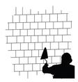 man front the brick wall vector image