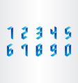 numbers from 0 to 9 3d design vector image