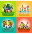 set of family or healthy lifestyle concepts vector image
