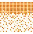 simple orange mosaic background vector image