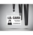 id card woman black vector image
