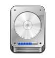 Hard Disc Icon vector image vector image