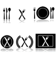 Restaurant and food icons vector image