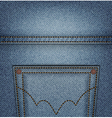 Jeans pocket top vector image vector image