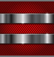 red perforated background with stainless steel vector image