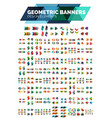 mega collection of geometric abstract banner vector image vector image