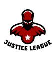 logo superhero superman costume justice league vector image