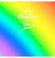 Colorful background with rainbow waves with mosaic vector image vector image