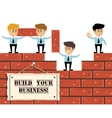 Build business concept vector image