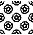 Abstract seamless gear wheels pattern vector image
